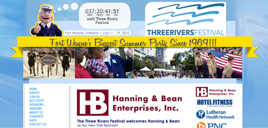 Three Rivers Festival home page